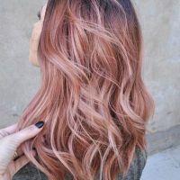 Moda do cabelo Rose Gold